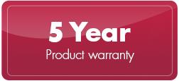 3 & 5 Year Warranty